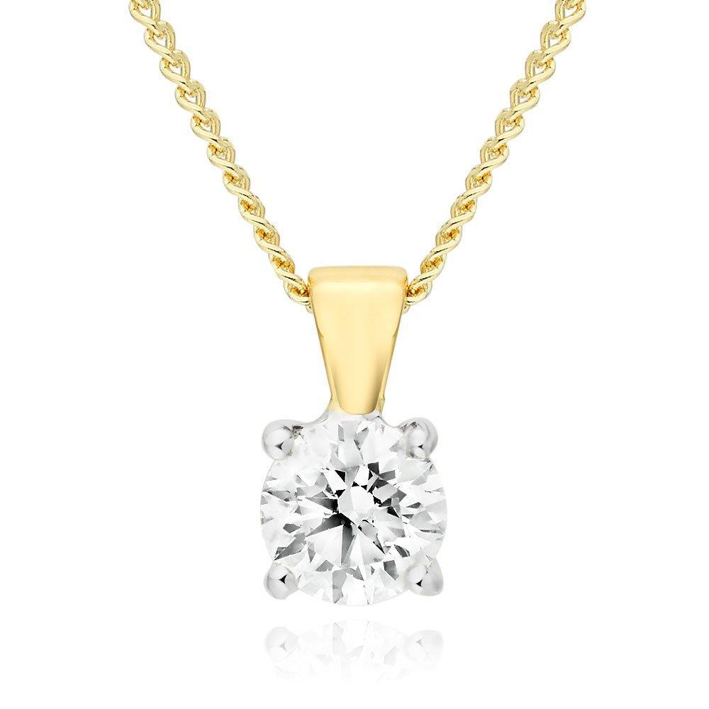 18ct Gold Diamond Pendant