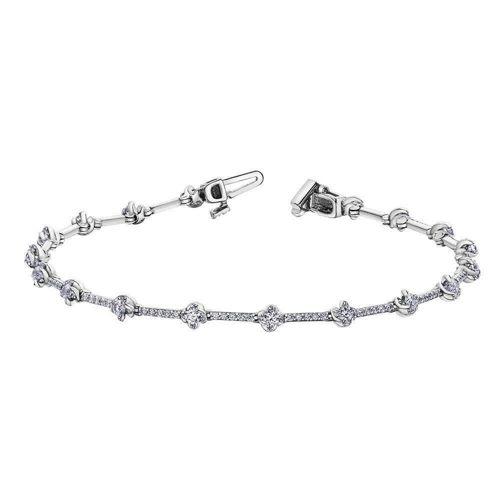 Maple Leaf Diamonds Wind's Embrace 18ct White Gold Diamond Bracelet