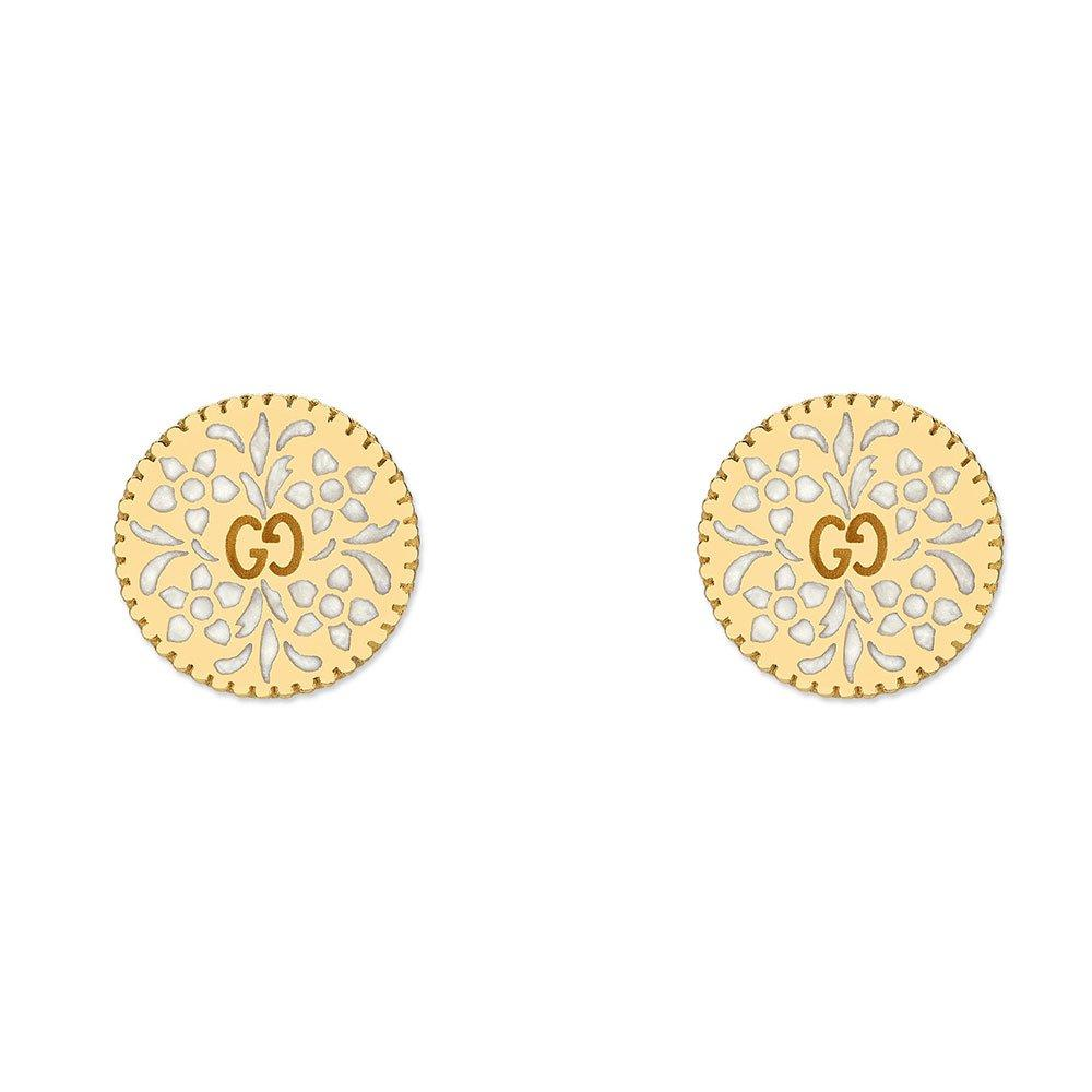 Gucci Icon 18ct Gold Stud Earrings
