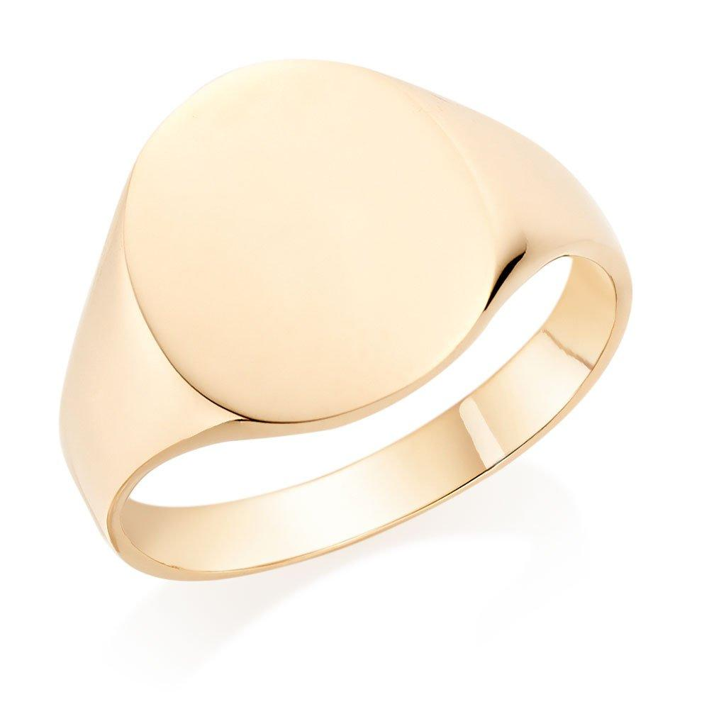 9ct Gold Oval Signet Ring