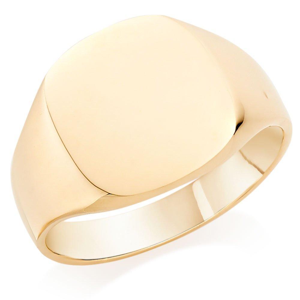 9ct Gold Cushion Signet Ring
