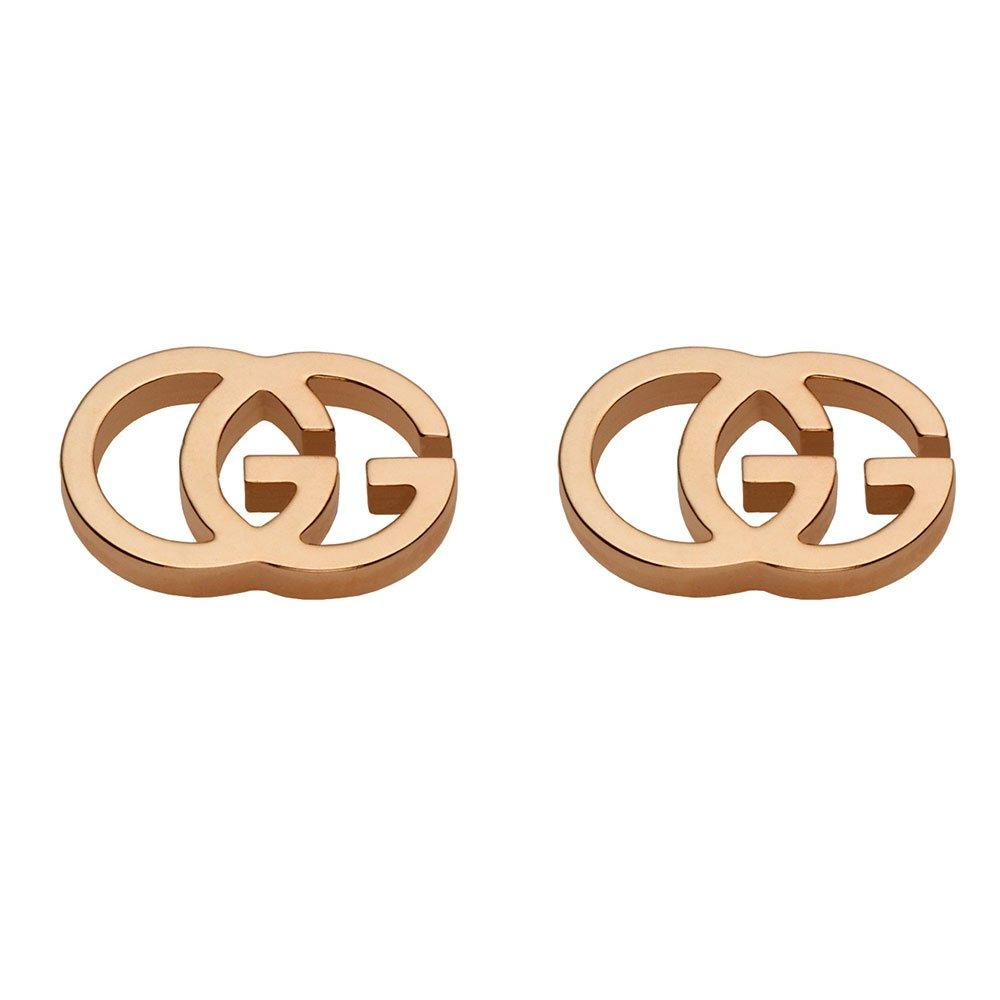 Gucci Double G 18ct Rose Gold Stud Earrings