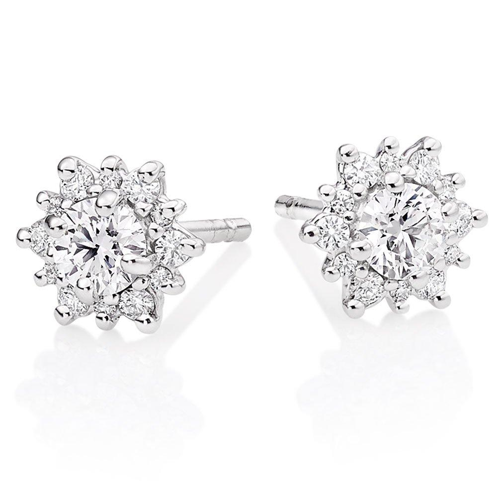 Hearts On Fire Delight 18ct White Gold Diamond Earrings