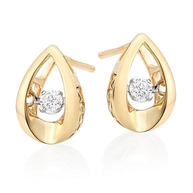 Dance by Beaverbrooks 9ct Gold Diamond Earrings