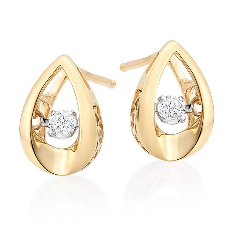 Dance 9ct Gold Diamond Earrings