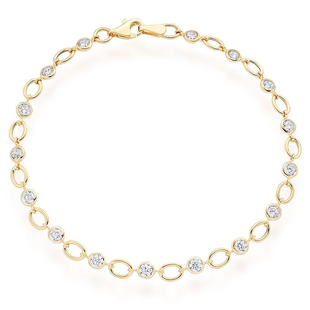 9ct Gold Cubic Zirconia Bracelet