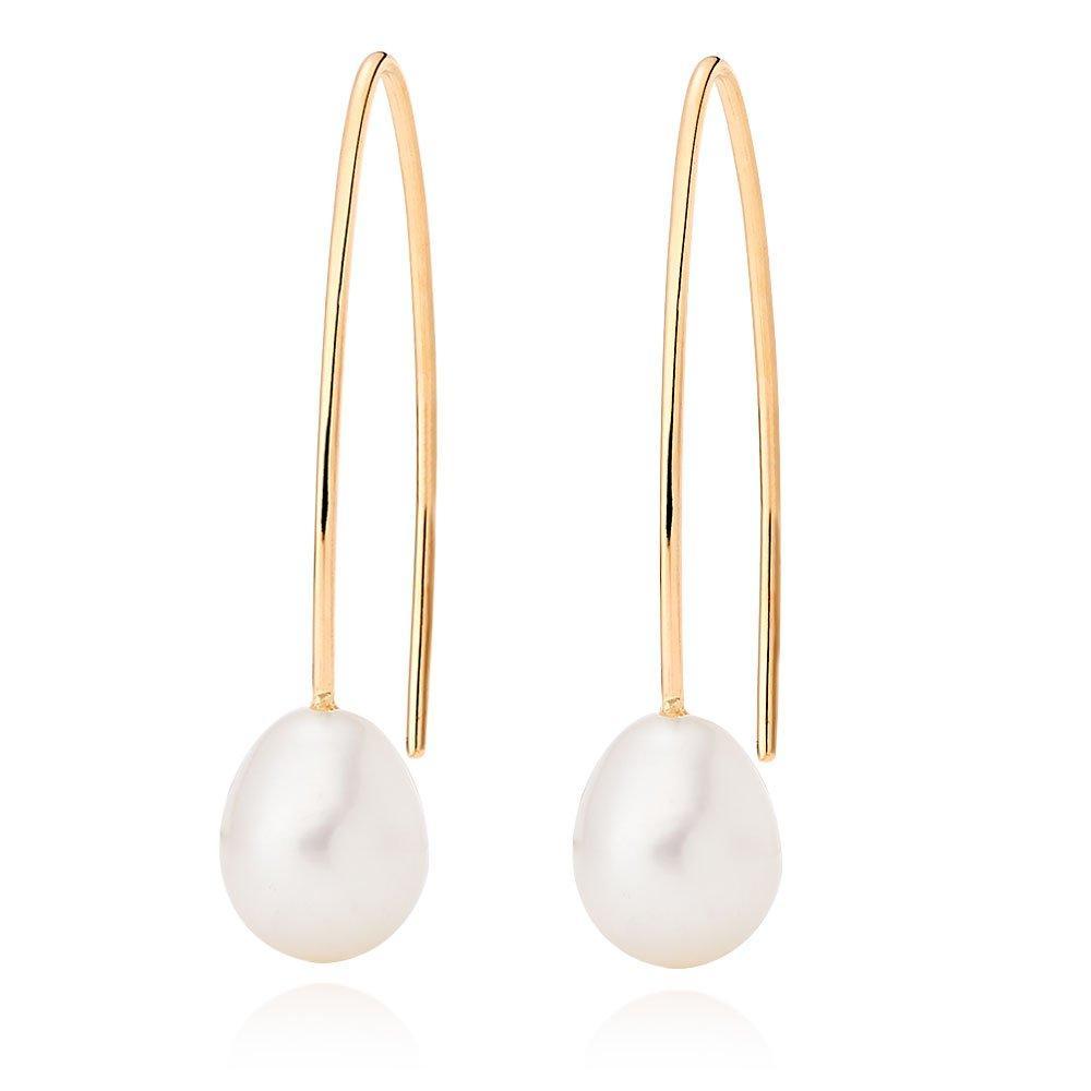9ct Gold Freshwater Pearl Drop Earrings