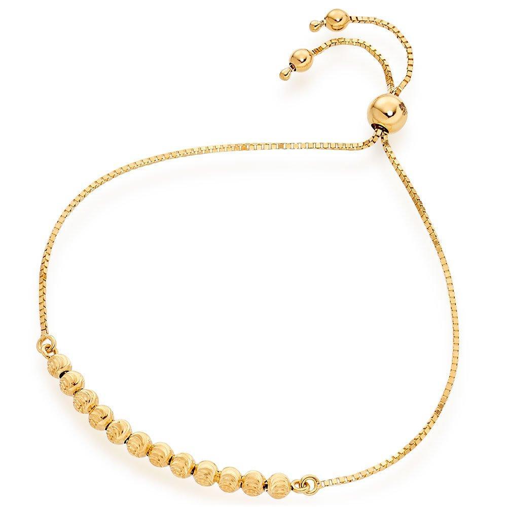 9ct Gold Ball Slider Bracelet