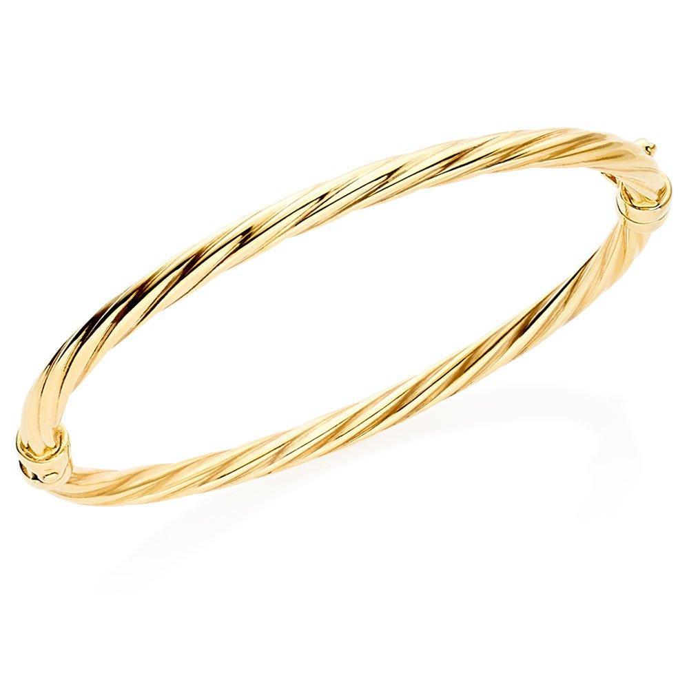 Mini B 9ct Gold Twist Bangle