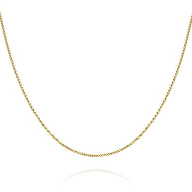 Children's 9ct Yellow Gold Curb Chain 35cm