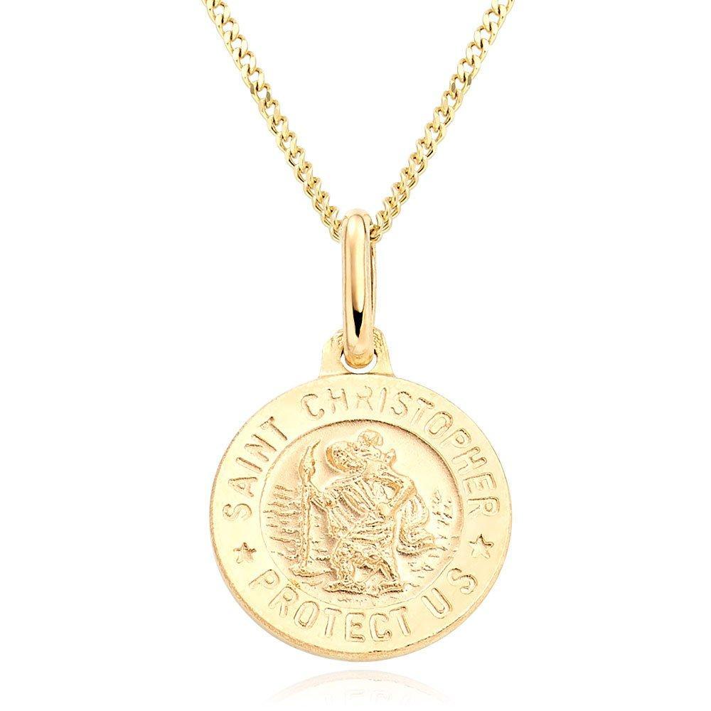 Mini B 9ct Gold St Christopher Pendant