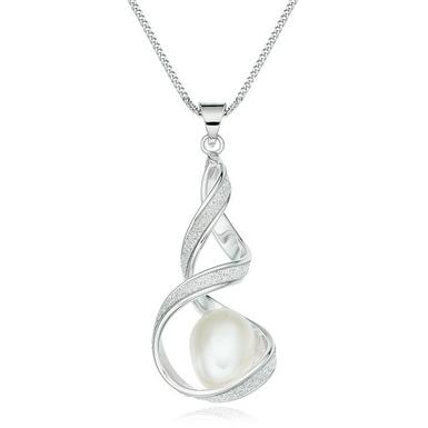 Glitter and Sparkle 9ct White Gold Freshwater Cultured Pearl Pendant
