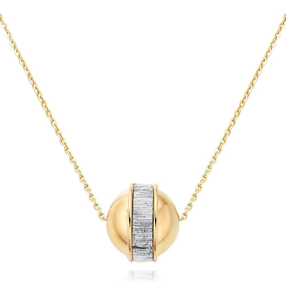9ct Gold Glitter Ball Necklace