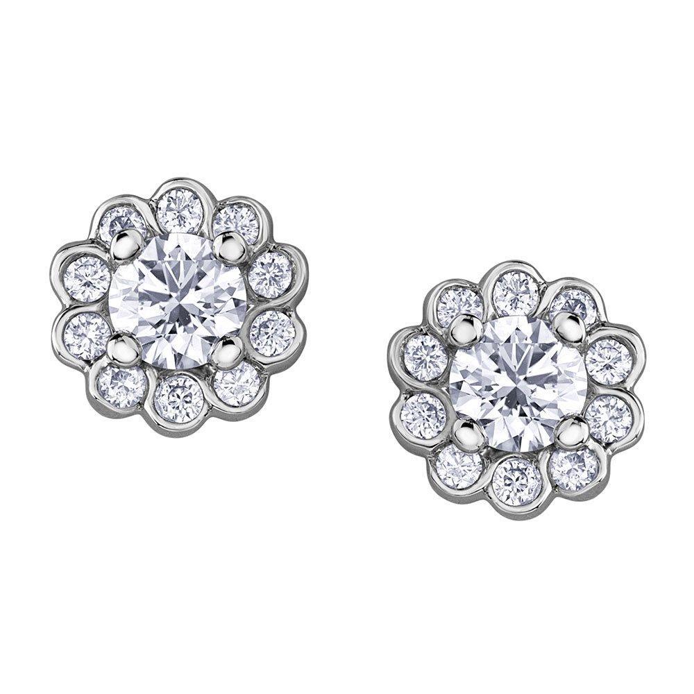 Maple Leaf Diamonds 18ct White Gold Diamond Earrings