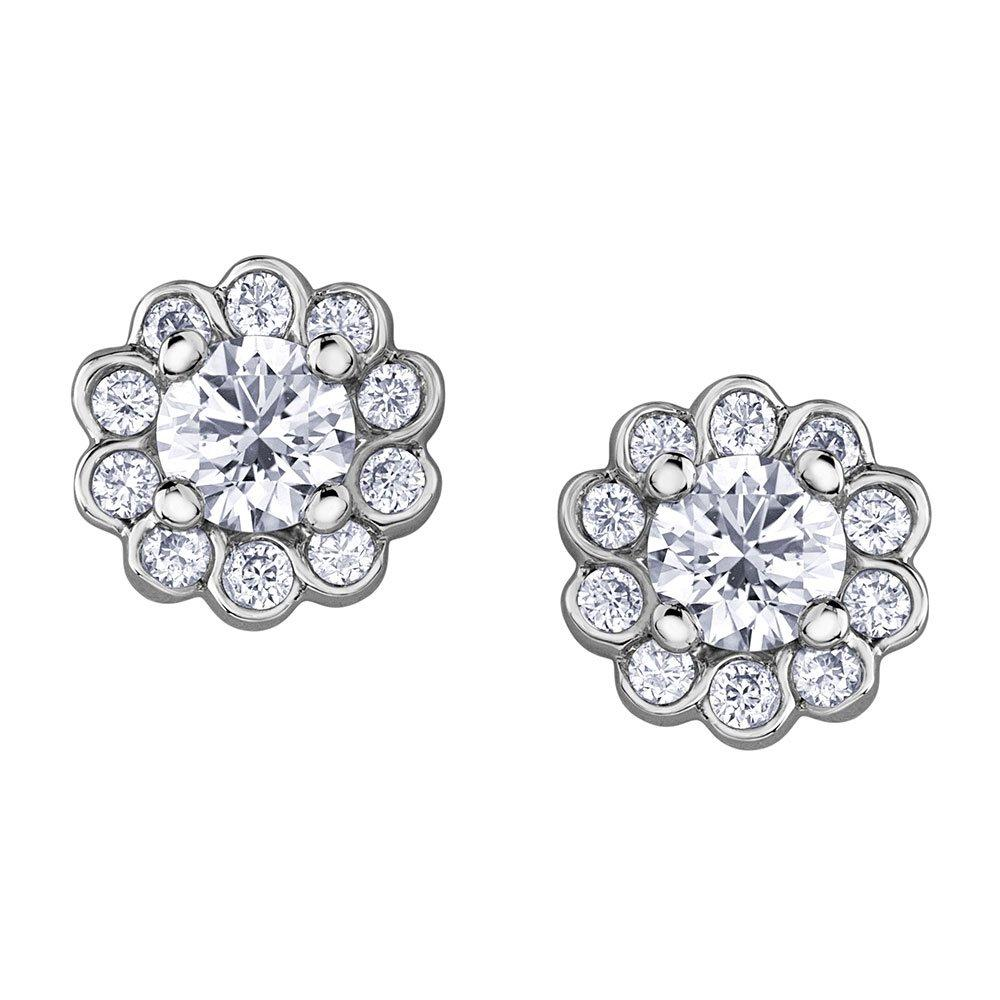 Maple Leaf Diamonds 18ct White Gold Diamond Earrings