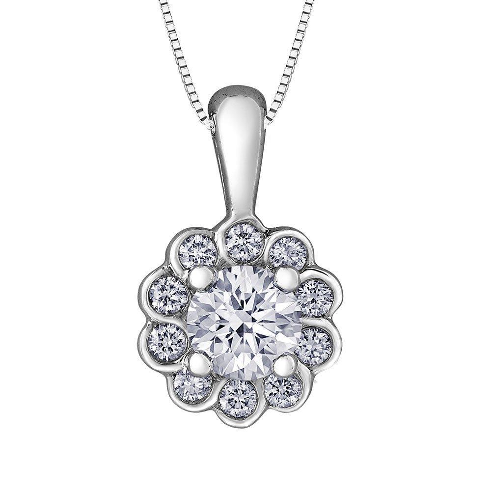 Maple Leaf Diamonds 18ct White Gold Diamond Pendant