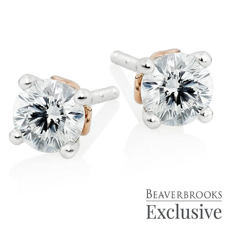 Beyond Brilliance 18ct White Gold and Rose Gold Diamond Earrings