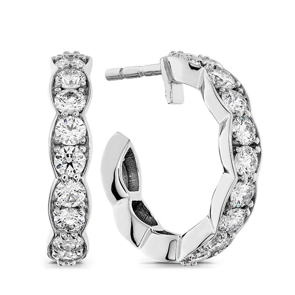 Hearts On Fire Lorelei 18ct White Gold Diamond Hoop Earrings