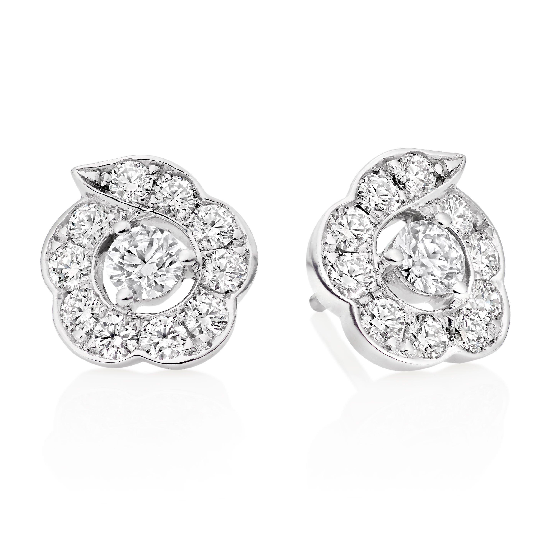 Hearts On Fire Lorelei 18ct White Gold Diamond Stud Earrings