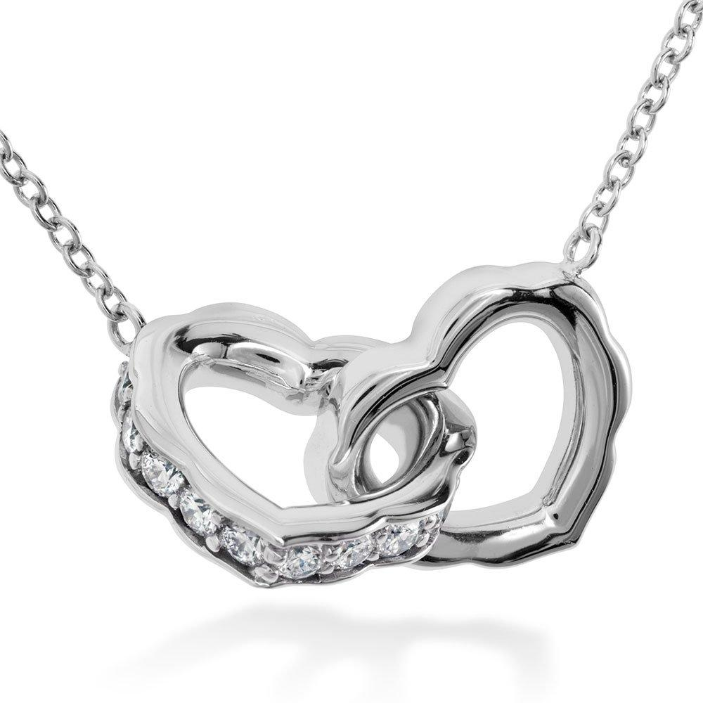 Hearts On Fire Lorelei 18ct White Gold Diamond Heart Necklace