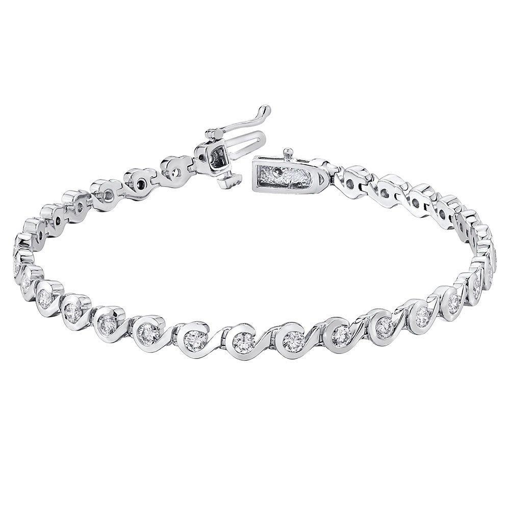 Maple Leaf Diamonds 18ct White Gold Diamond Bracelet