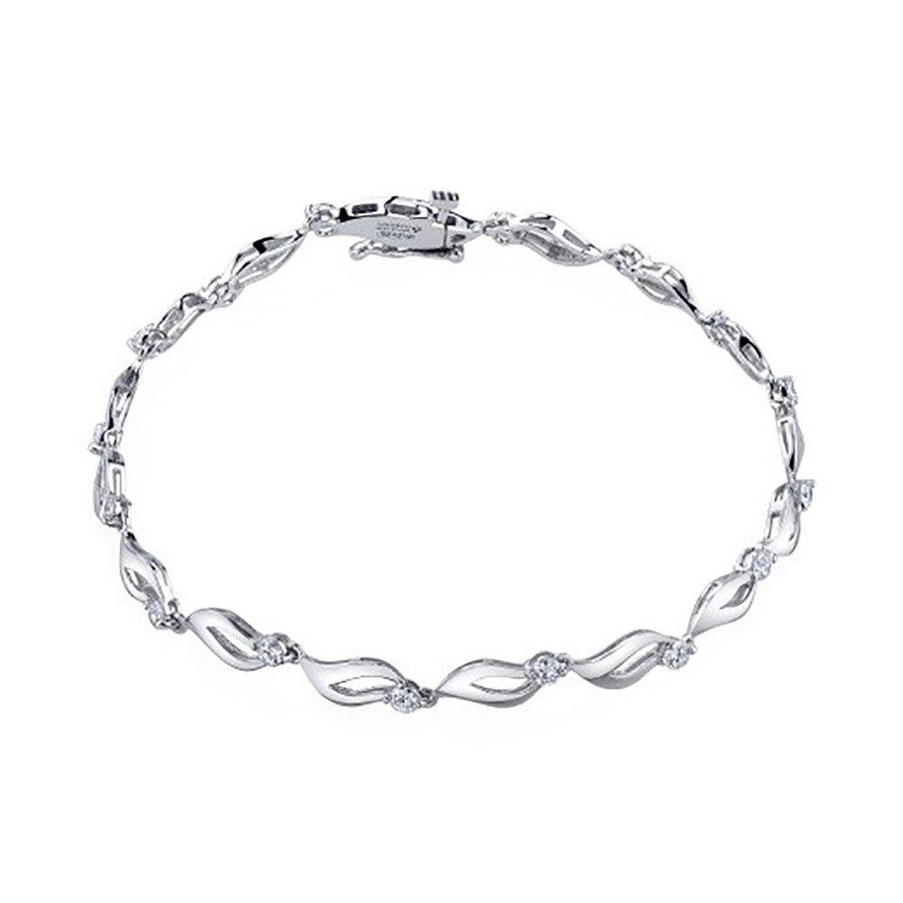 Maple Leaf Diamonds 18ct White Gold Diamond Bracelet
