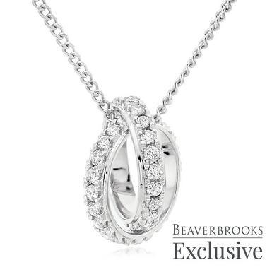 9ct White Gold Diamond Pendant