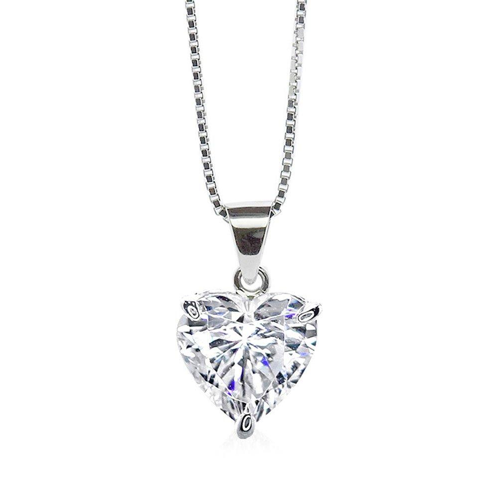 CARAT 9ct White Gold Heart Pendant