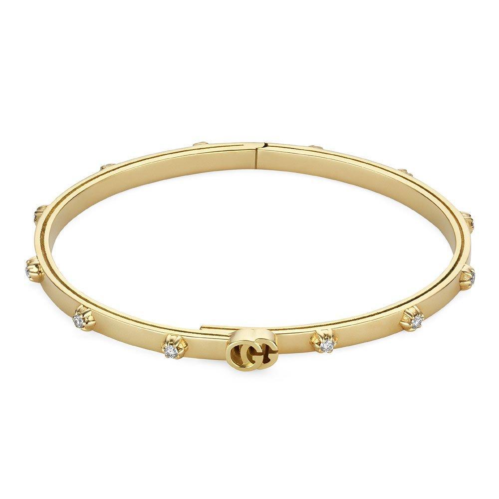 Gucci 18ct Gold Running G Diamond Bracelet
