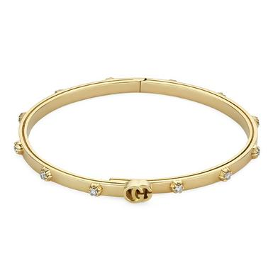Gucci Running G 18ct Gold Diamond Bracelet