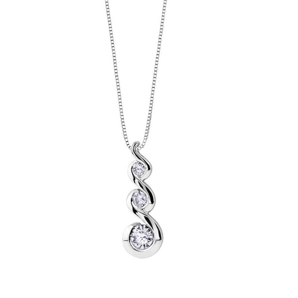 Maple Leaf Diamonds 18ct White Gold Diamond Pendant