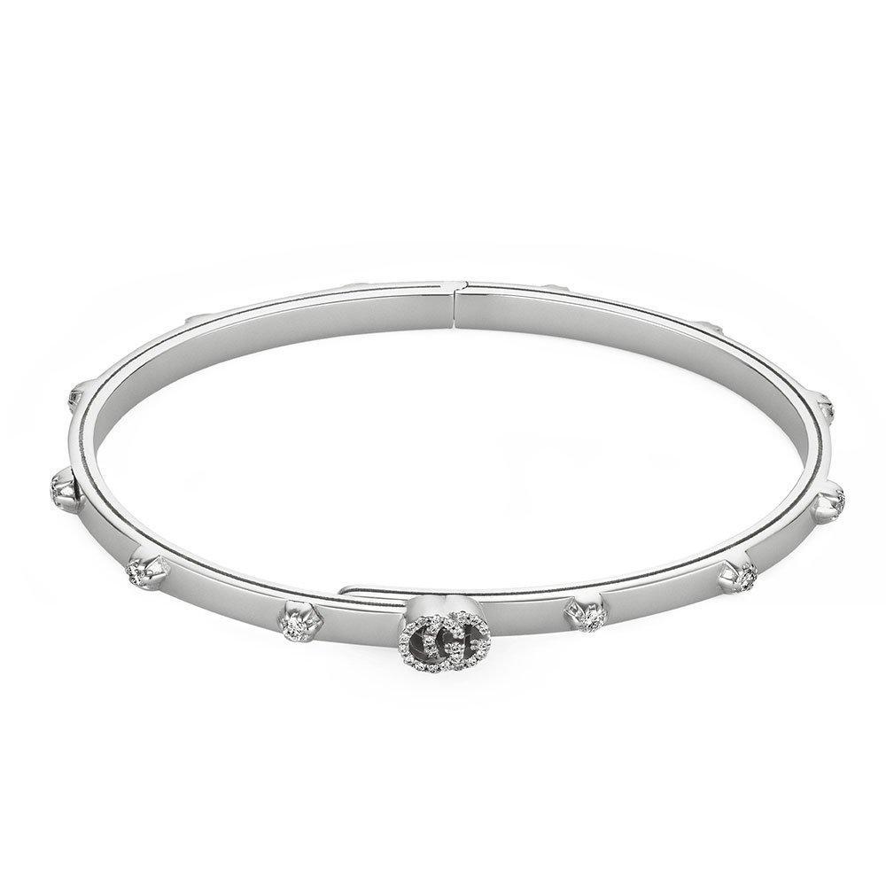 Gucci Running G 18ct White Gold Diamond Bracelet