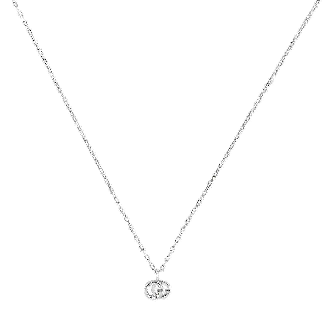Gucci GG 18ct White Gold Diamond Pendant