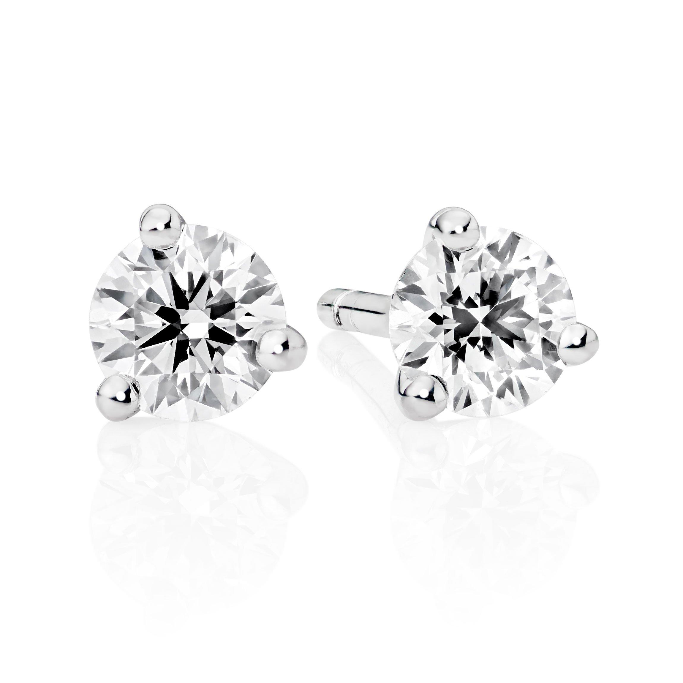 Hearts On Fire 18ct White Gold Diamond Earrings