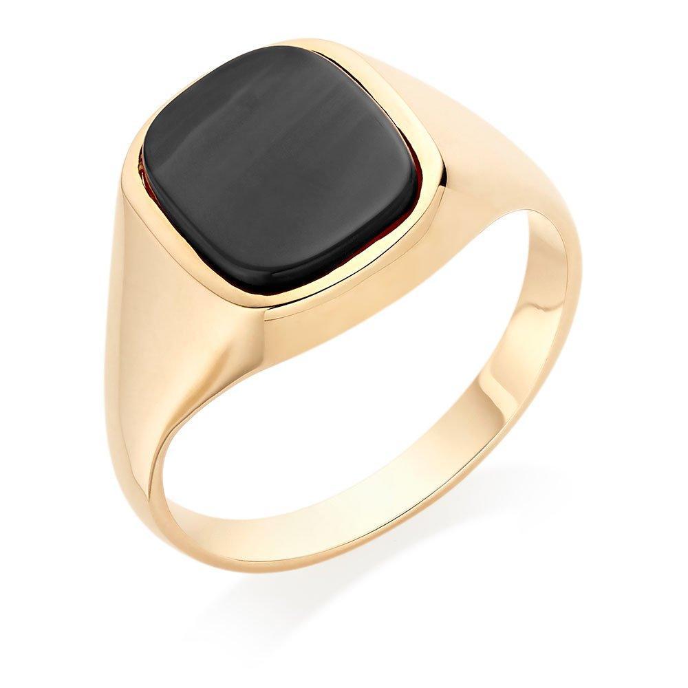 9ct Yellow Gold Black Onyx Signet