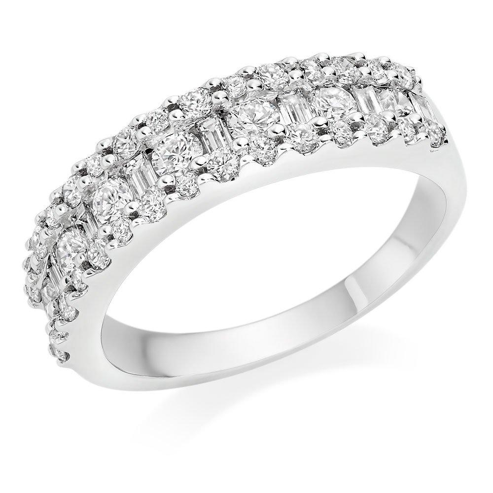 9ct White Gold Cubic Zirconia Eternity Ring