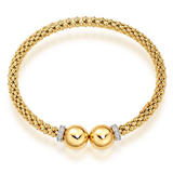9ct Gold Diamond Ball Bangle