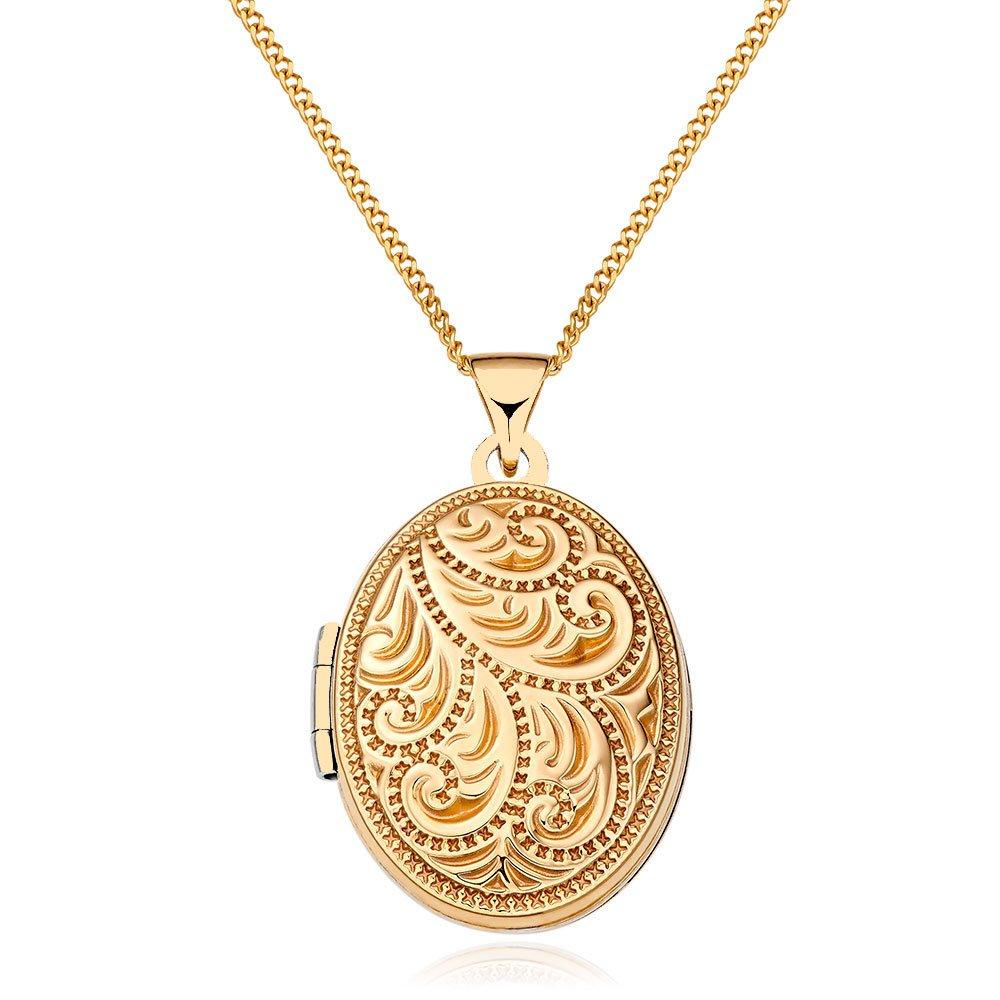 9ct Gold Filigree Family Locket
