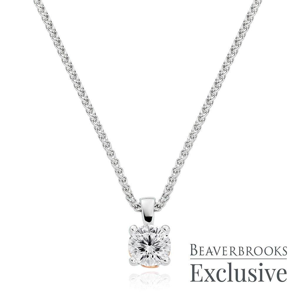 Beyond Brilliance 18ct White Gold and Rose Gold Diamond Pendant