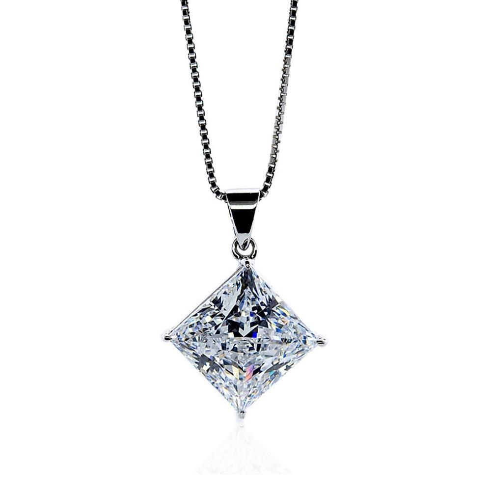 CARAT Classic 9ct White Gold Square Pendant