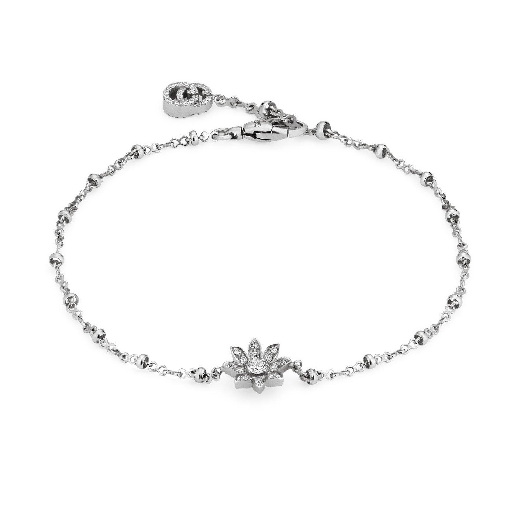 Gucci Flora 18ct White Gold Diamond Bracelet