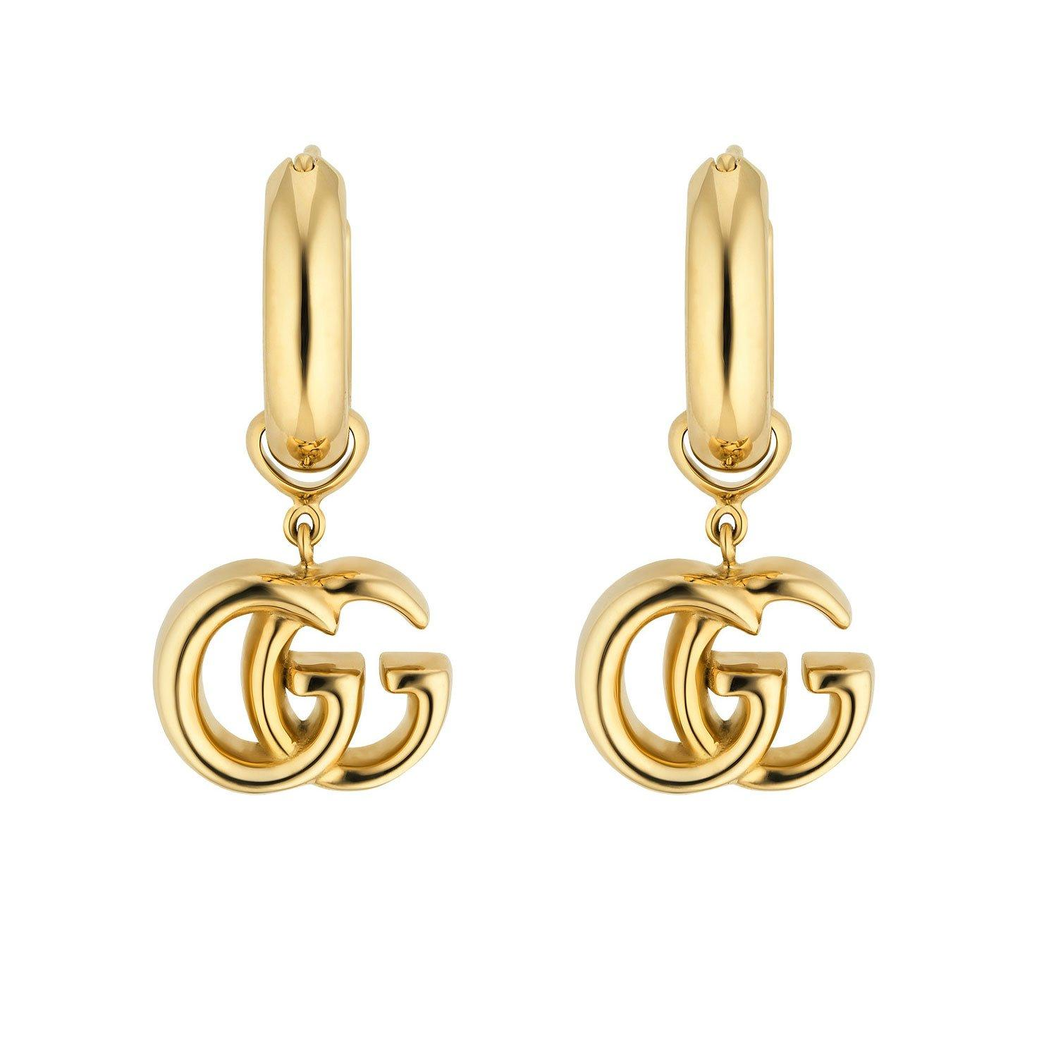 Gucci GG Running 18ct Gold Small Hoop Earrings