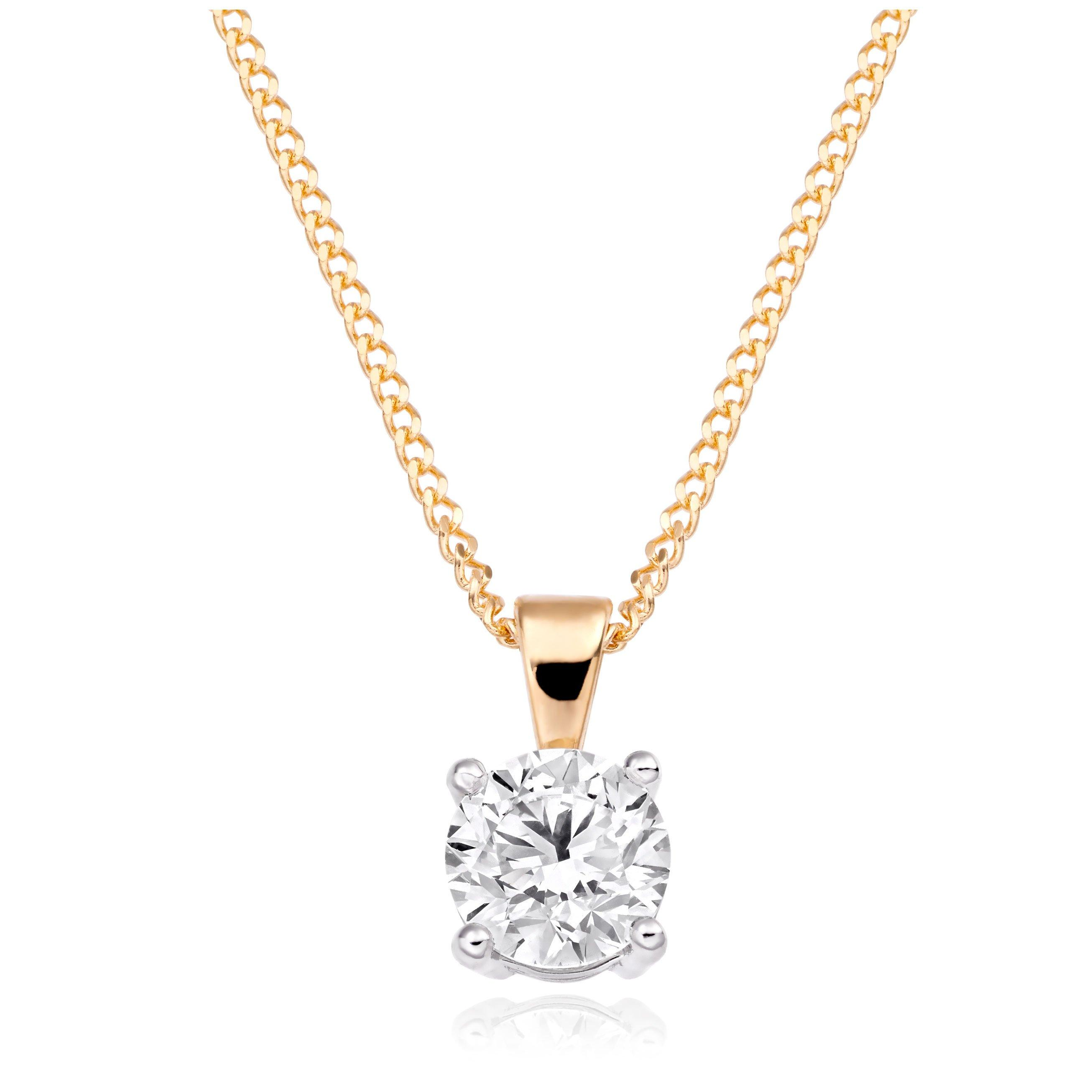 18ct Gold Diamond Pendant