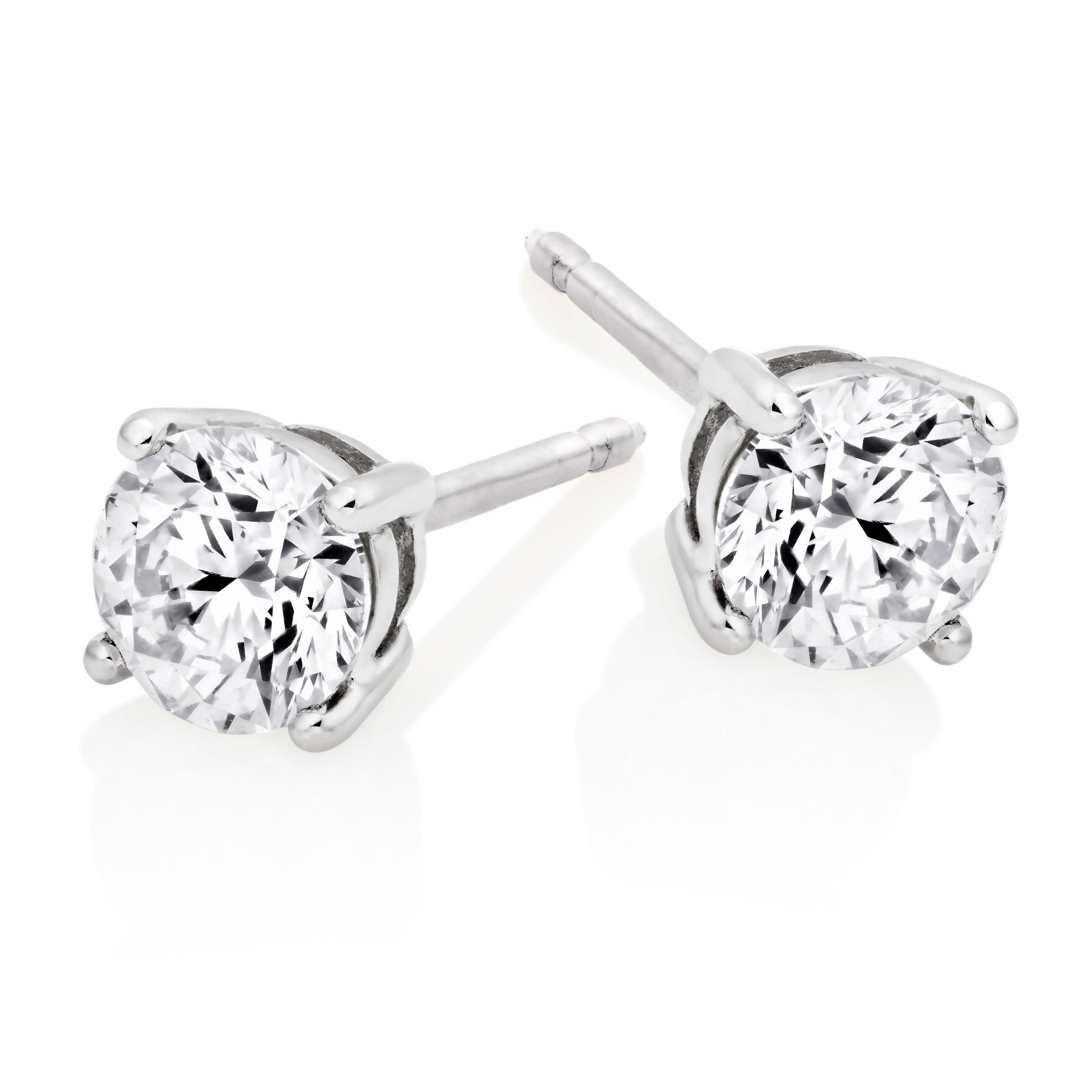 18ct White Gold Diamond Earrings