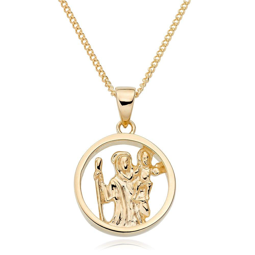 (9ct Gold St Christopher Pendant)