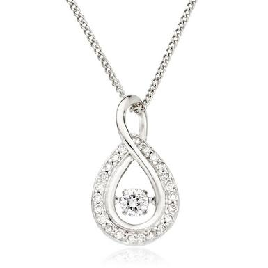 Dance 9ct White Gold Diamond Pendant