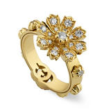 Gucci Flora 18ct Gold Diamond Ring
