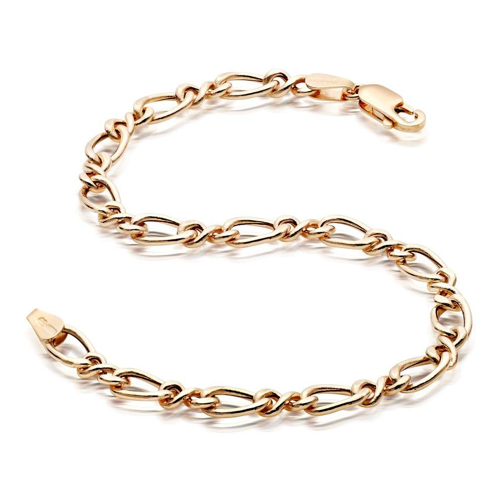 9ct Gold Figaro Bracelet - 19cm