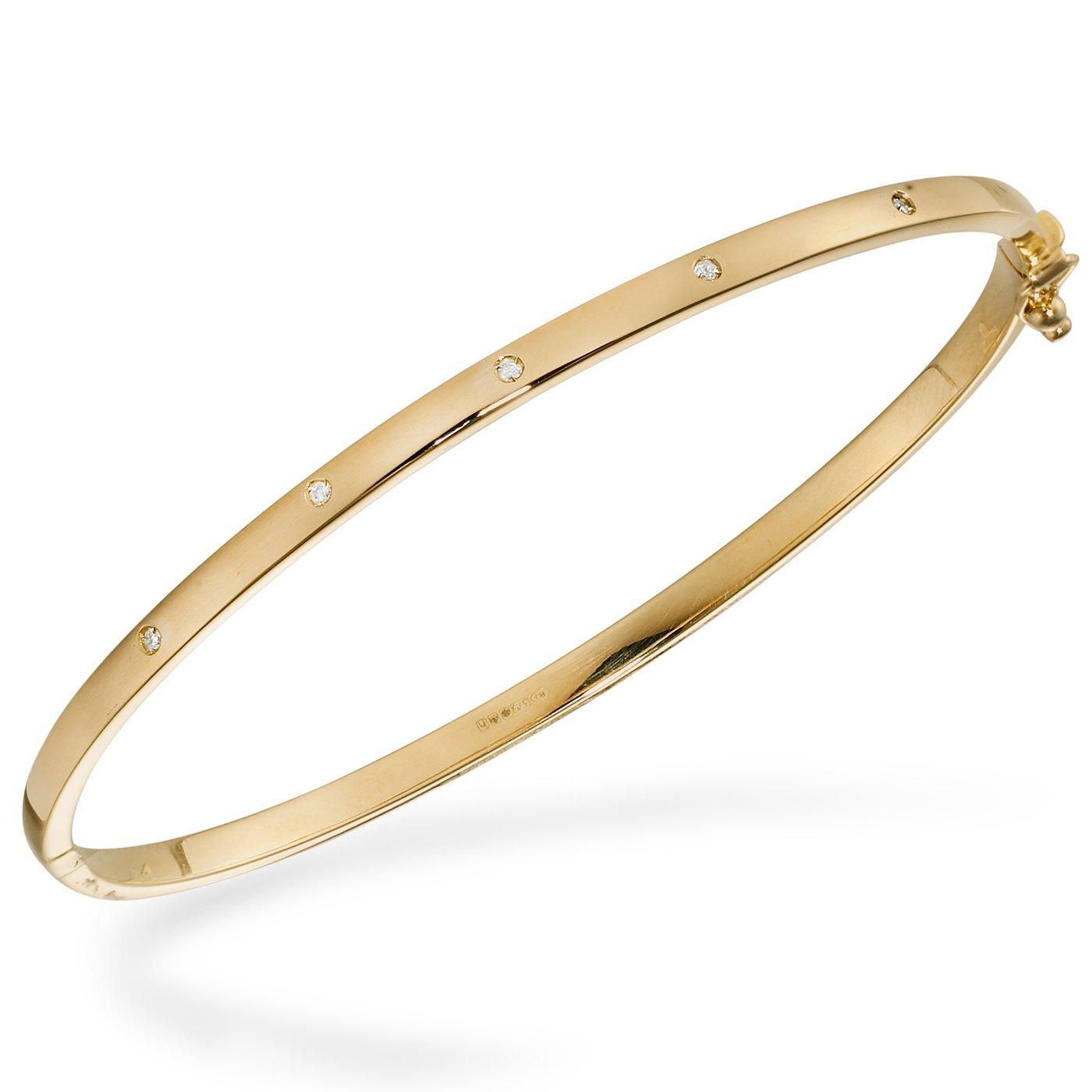 9ct Gold Diamond Set Bangle