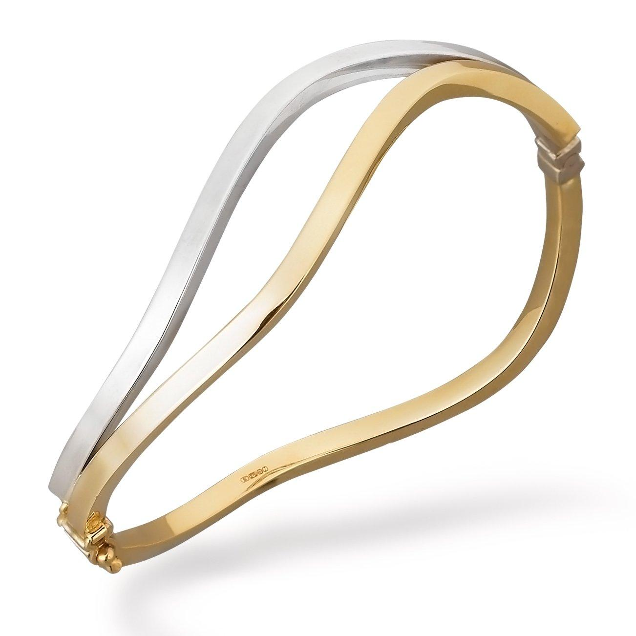 9ct Two Coloured Gold Bangle